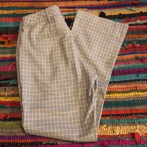 Flare Checkered Pants Abercrombie